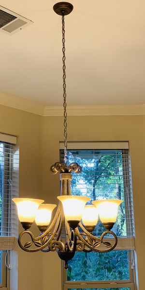 5 Light Chandelier Antique Bronze for Sale in Fort Worth, TX