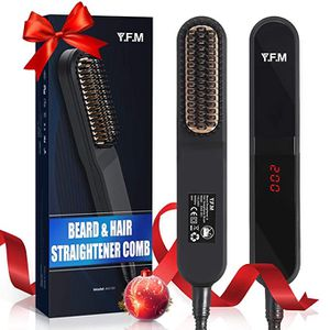 Beard Straightener for Men - Y.F.M Heated Beard Straightening Comb, Volumizing Hair Straightener for Men, Gift Set for Daddy, Husband, Friend for all for Sale in Ontario, CA