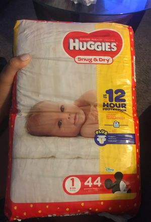 Never opened 44 ct size 1 Huggies for Sale in Kissimmee, FL