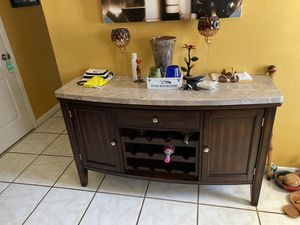 Dining Marble top 6 chairs and bar for Sale in Auburndale, FL