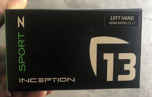 13 fishing inception Z baitcaster with fate black rod for Sale in Bloomingdale, IL