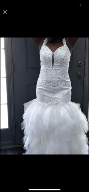 Beautiful gown!!! [ POSSIBLE WEDDING DRESS] great for bar mitzvah or event dress for Sale in Snellville, GA