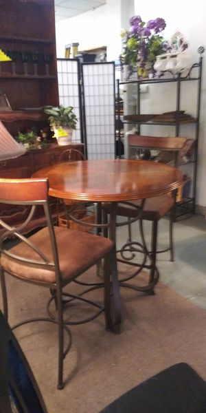 3-Pc Set... Counter Height Table With 2 Chairs for Sale in Lancaster, TX