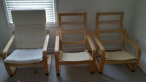 3 ikea poang chairs, 1 cushion for Sale in Atlanta, GA