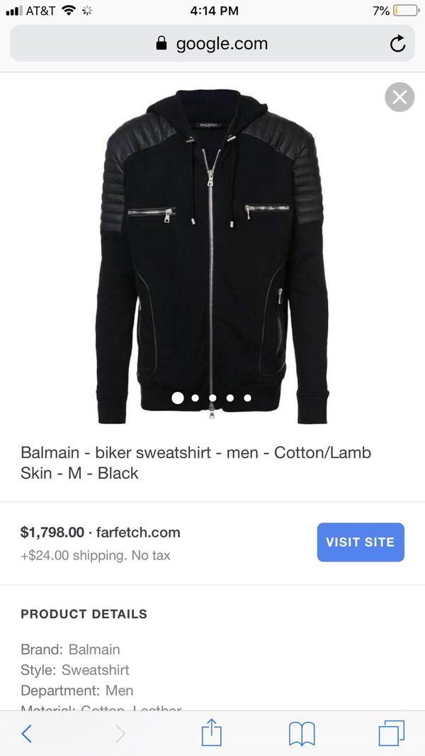 Balmain hoodie jacket