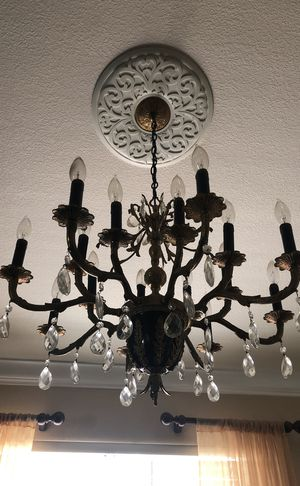Brown gold chandelier for Sale in Stockton, CA
