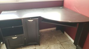 Black corner desk w/ tons of storage for Sale in San Diego, CA