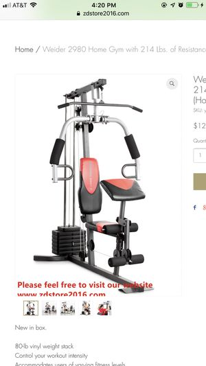 Weider 2980 Home Gym with 214 Lbs. of Resistance for Sale in Houston, TX