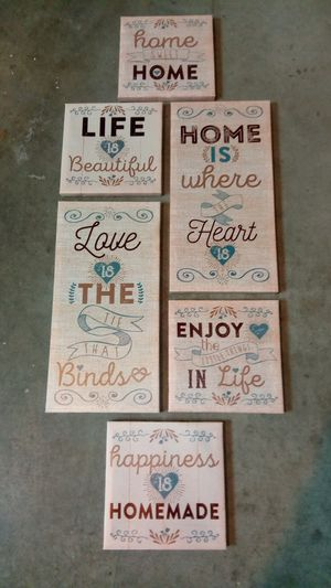 6 Piece Home Wall Decor for Sale in Henderson, NV
