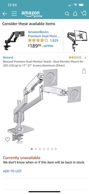 Best stand dual monitor stand for screens for Sale in Schaumburg, IL