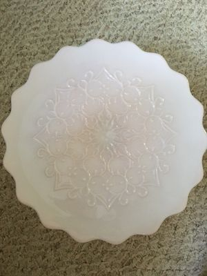 Fenton Spanish Lace Pink Milk Glass Cake Stand for Sale in Cumming, GA