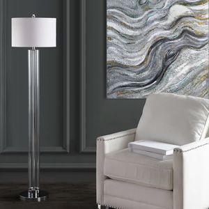 "Stunning metal and glass Floor lamp. 64"" x 15"". MSRP $1133. Our price $145 + sales tax for Sale in Woodstock, GA"