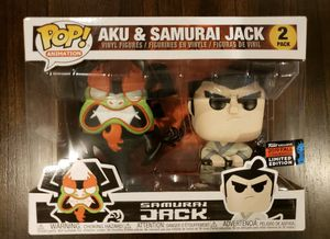 Funko Pop! Animation: Samurai Jack & Aku 2-pack 2019 NYCC Shared Exclusive for Sale in Gresham, OR