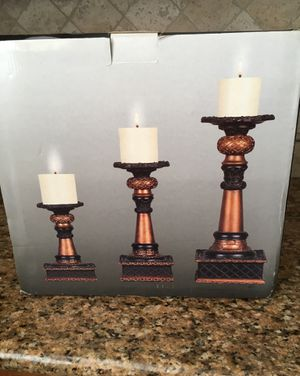 Beautiful candlestick set with candles -NEW for Sale in La Mirada, CA