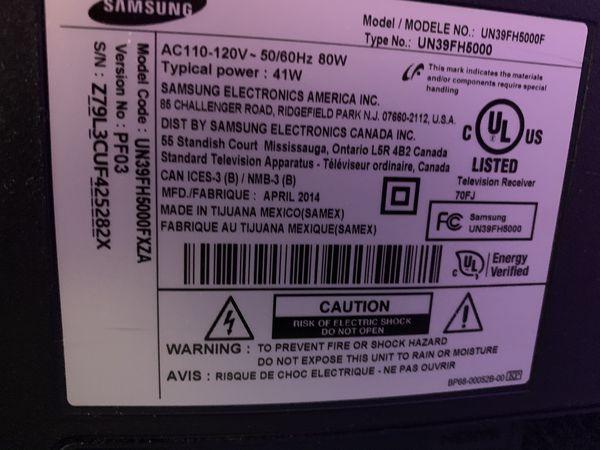 """$200-Samsung 5000 UN39FH5000F 39"""" 1080p LED-LCD HDTV OBO"""