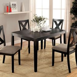BRUSHED BLACK FINISH 5 PIECE DINING TABLE SET - MESA COMEDOR SILLAS for Sale in Bell Gardens,  CA