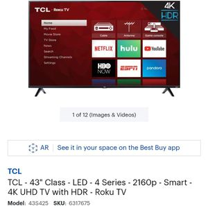 "43"" TCL Roku Tv for Sale in St. Louis, MO"