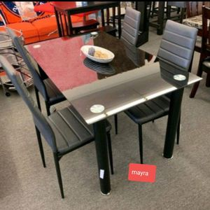 {{{ SPECIAL}}} FLORIAN DINING ROOM SET. BLACK.. TABLE CHAIRS.. delivery available. Brand new for Sale in Katy, TX