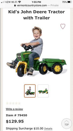 Kids John deer Tractor with Trailer for Sale in Henderson, NV