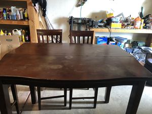 Beautiful Wood Pub Table! Bonus 6 Chairs! for Sale in Glendale, AZ