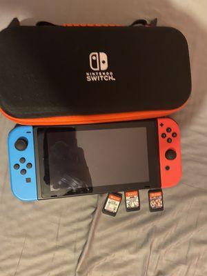 Nintendo Switch + Super Smash Mario Party Mario Kart + extra controller for Sale in Miami, FL
