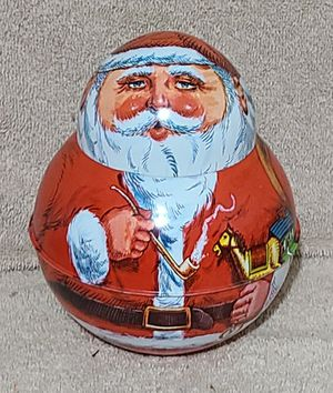 Vintage Roly Poly Tin Santa Clause, Chein Ind., 1980 for Sale in Brandon, FL