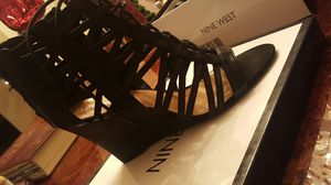 Nine West black wedges. for Sale in Waukegan, IL