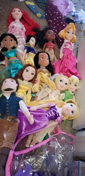 Disney princess plush dolls for Sale in Chula Vista, CA