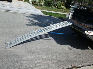 Motorcycle ramp with strap 7.5ft solid state aluminum cbr600 cbr1000 r1 r6 zx9r zx6r ducati cruiser gsxr750 600 1000 kawasaki honda suzuki yamaha for Sale in Coconut Creek, FL