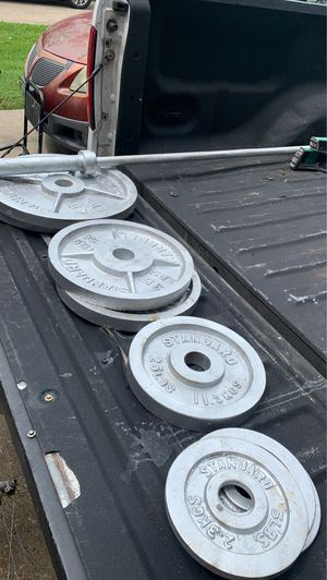 Barbell and weights for Sale in Richmond, TX
