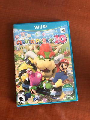 WiiU Mario Party 10 price reduced for Sale in San Antonio, TX
