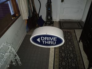 Antique old drive-thru sign make me an offer for Sale in Winona, MN