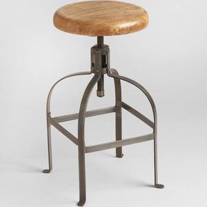 Adjustable Round Wood and Metal Stool (by World Market) for Sale in Alexandria, VA