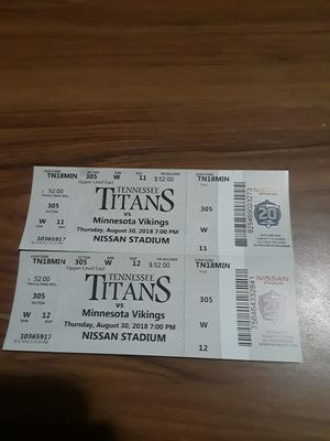 Two Tennessee Titans tickets for Sale in Morristown, TN