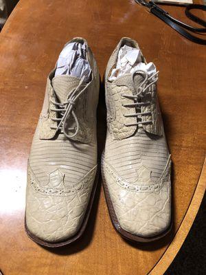 David Eden Men's Tan Brown Crocodile Lizard Oxford Dress Shoes for Sale in Gainesville, GA