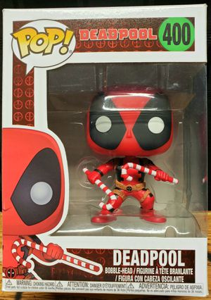 DEADPOOL Funko Pop Marvel Holiday Bobblehead w/ candycanes for Sale in Fresno, CA