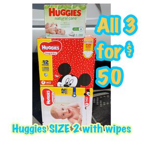 Huggies Size 2 diapers with wipes bundle for Sale in Oakland, CA