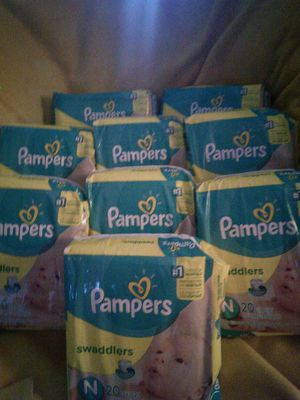 Pampers swaddlers newborn 20 CT diapers for Sale in Edgewood, MD