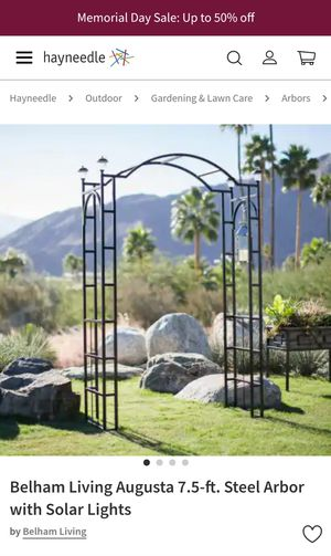 7.5 ft Arch steel arbor trellis NEW for Sale in Gaithersburg, MD