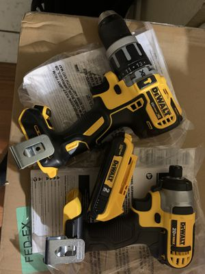 Dewalt - Brushless hammer drill and dewalt 20v impact drill for Sale in Fresno, CA
