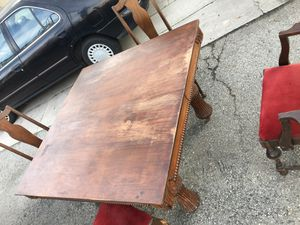 antique dining room table with chairs for Sale in Rossmoor, CA