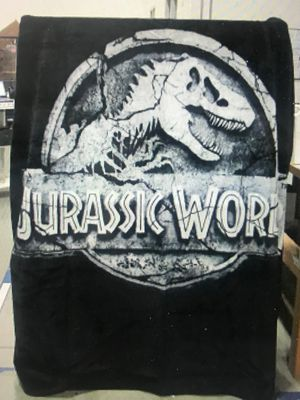 "Regal Comfort Jurassic World Logo Faux Fur Mink Throw Blanket 79"" x 96"" Queen Size for Sale in Henderson, NV"