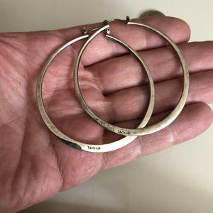 "Huge sterling silver 925 hoop earrings ladies jewelry 2 1/2"" round for Sale in Nashville, TN"
