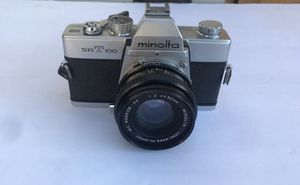 Minolta SRT-100 35mm SLR Film Camera with MC Rokkor PF 55mm F1.9 Lens untested for Sale in Pittsburg, CA
