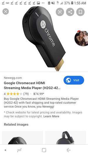 Google Chromecast Streaming Media Player for Sale in Federal Way, WA