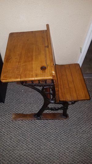 2 antique childs desks 1 doll replica desk all good condition for Sale in Cedar Hill, MO