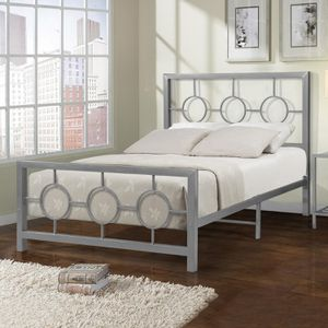 Metal Bed Frame, Circle Design 79x59x49H, Queen Size only 4 left for Sale in The Bronx, NY