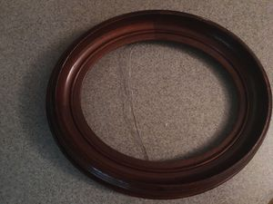 "Three antique walnut oval frames, 11"" x13"", holds 8"" x 10"" photos for Sale in Lincoln, MA"