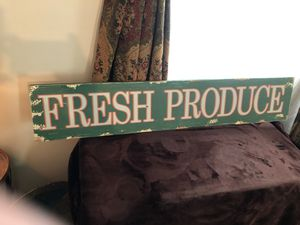 Wooden sign fresh produce for Sale in Mechanicsburg, PA