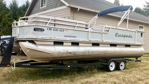2001 Party Barge 25' Pontoon Boat for Sale in Salem, OR